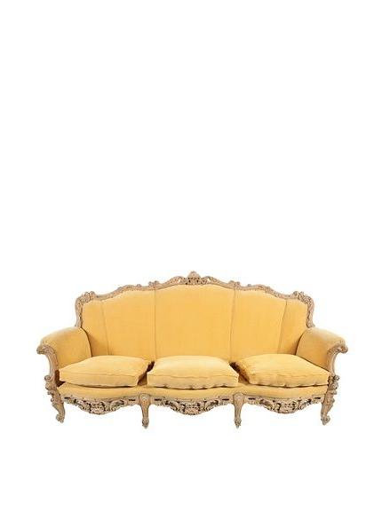 2018 French Chamois Sofa, Mustard/tan (View 11 of 20)