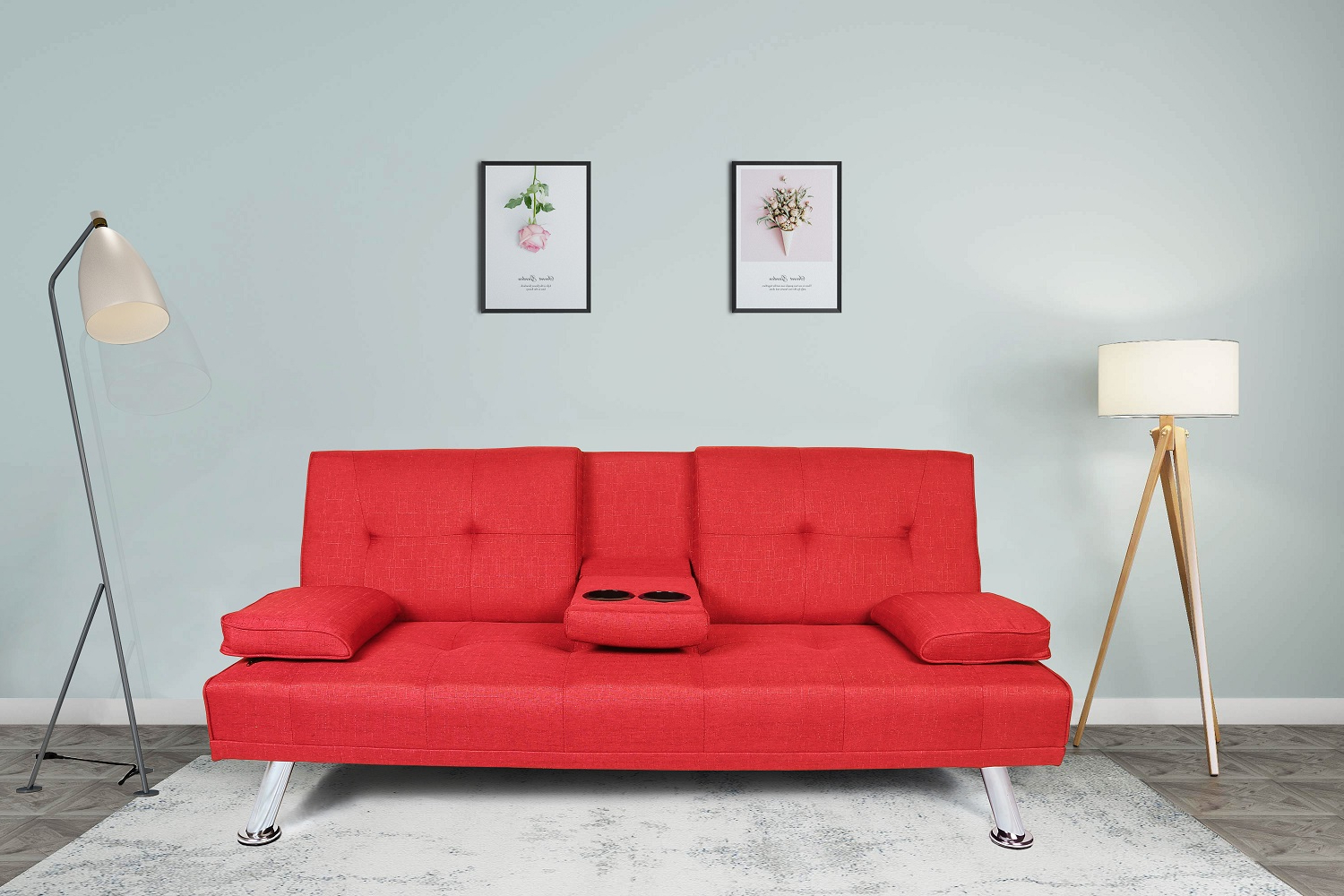 2018 Futon Sofa Bed, Modern Twin Fabric Sofa Sleeper Bed With Throughout Liberty Sectional Futon Sofas With Storage (View 2 of 20)