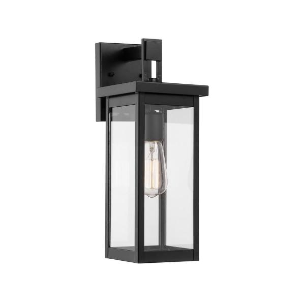2018 Millennium Lighting 1 Light Powder Coat Black Outdoor Wall Throughout Esquina Powder Coated Black Outdoor Wall Lanterns (View 4 of 20)