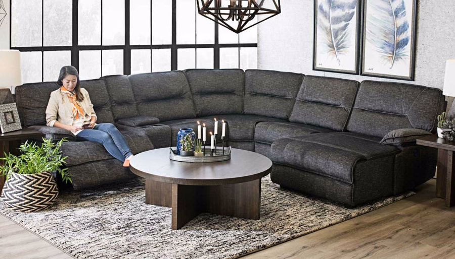 2018 Pacifica Gray Power Reclining Sofas In Pacifica 6 Piece Sectional – Home Zone Furniture (View 16 of 20)
