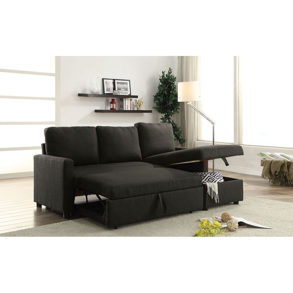 2018 Palisades Reversible Small Space Sectional Sofas With Storage Within Hiltons Sectional Sofa With Sleeper And Storage (View 12 of 20)