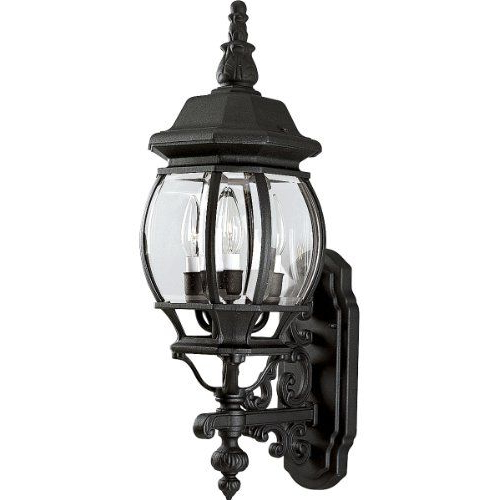 2018 Progress Lighting P5700 31 3 Light Wall Lantern With Clear Within Verne Oil Rubbed Bronze Beveled Glass Outdoor Wall Lanterns (View 14 of 20)