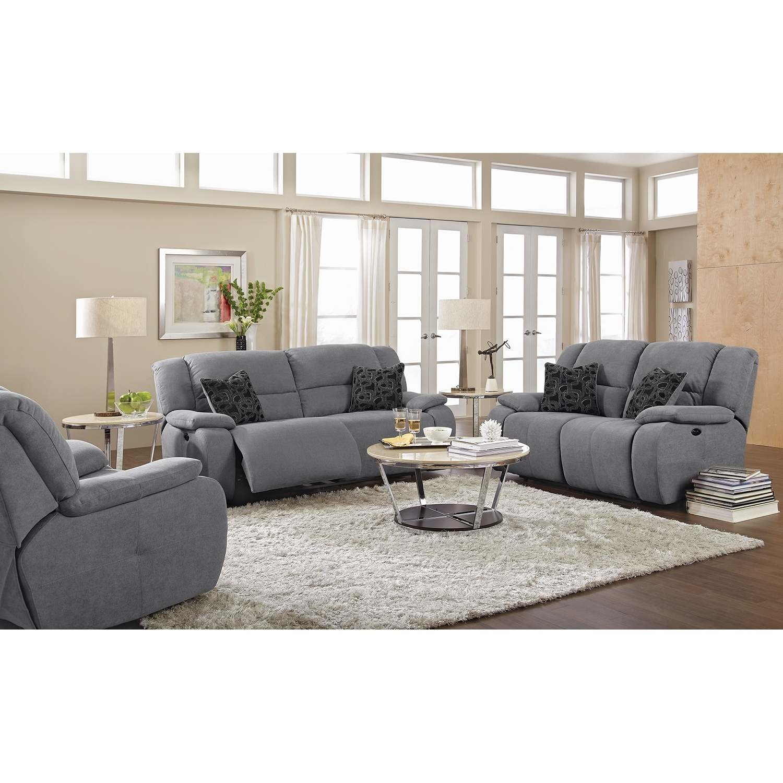 2018 Sectional Sofas In Gray Regarding Destin Gray Power Reclining Sofa (View 19 of 20)