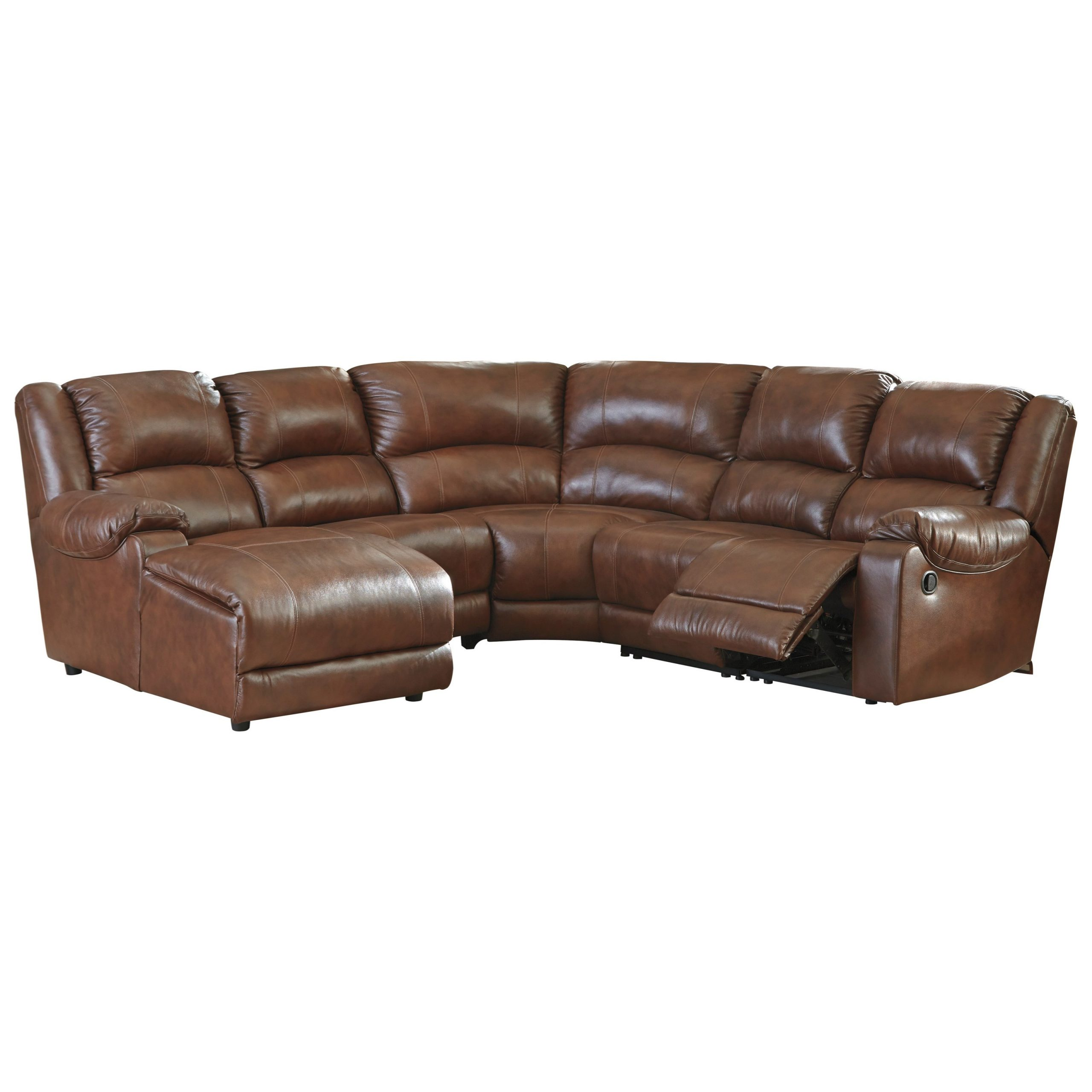 2018 Signature Designashley Billwedge Leather Match For Copenhagen Reclining Sectional Sofas With Right Storage Chaise (View 19 of 20)