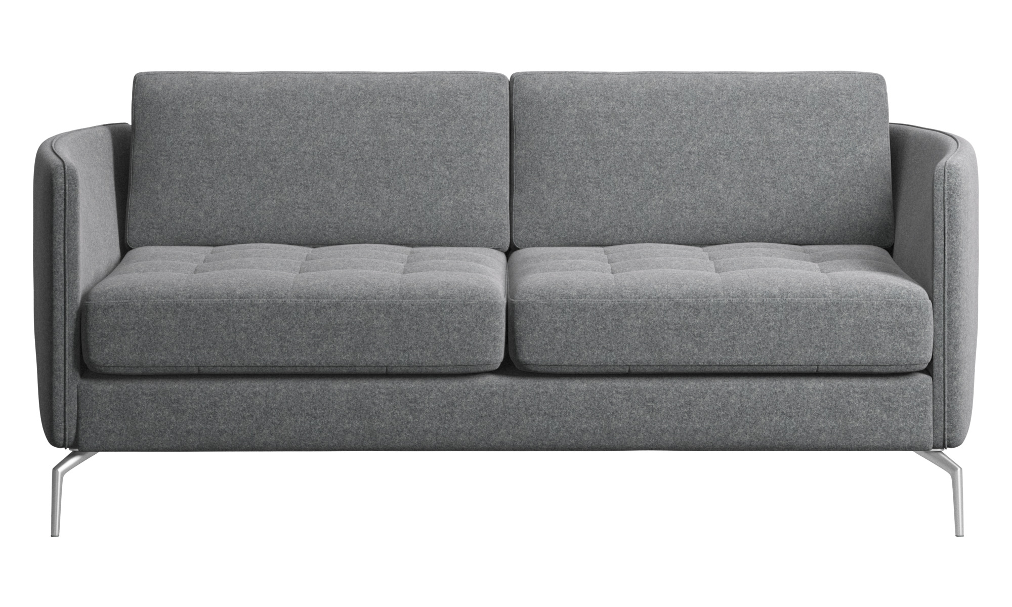 2018 Tufted Blue Suede 3 Seat Sofa Loveseat Blue Couch Blue Pertaining To 3pc Polyfiber Sectional Sofas With Nail Head Trim Blue/gray (View 5 of 20)