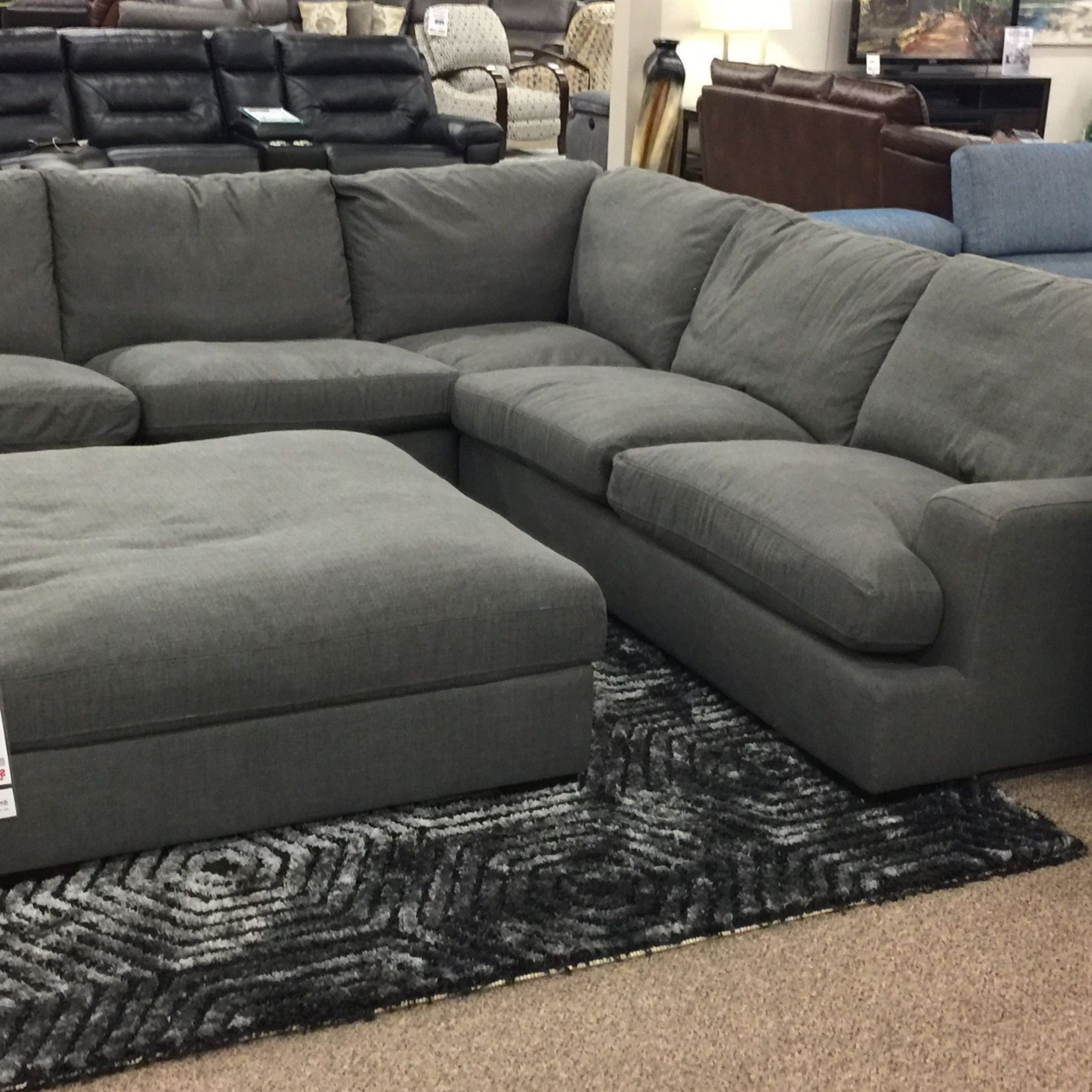2019 20 Slate Blue Sectional Sofa (dengan Gambar) Throughout Gneiss Modern Linen Sectional Sofas Slate Gray (View 20 of 20)