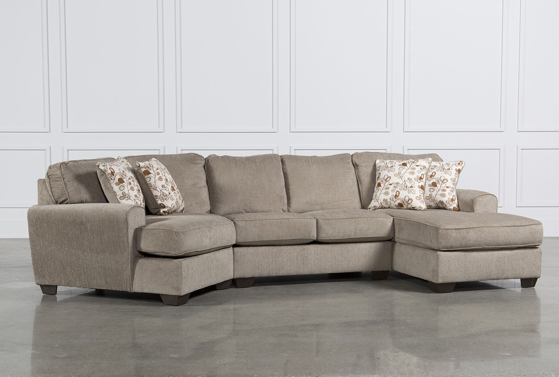 2019 2pc Maddox Right Arm Facing Sectional Sofas With Chaise Brown Throughout Cuddler Sectional Sofa Carena 2 Pc Fabric Sectional Sofa (View 3 of 20)