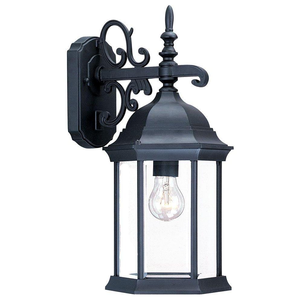 2019 Acclaim Lighting Madison Collection 1 Light Matte Black Intended For Bensley Matt Black Wall Lanterns (View 1 of 20)