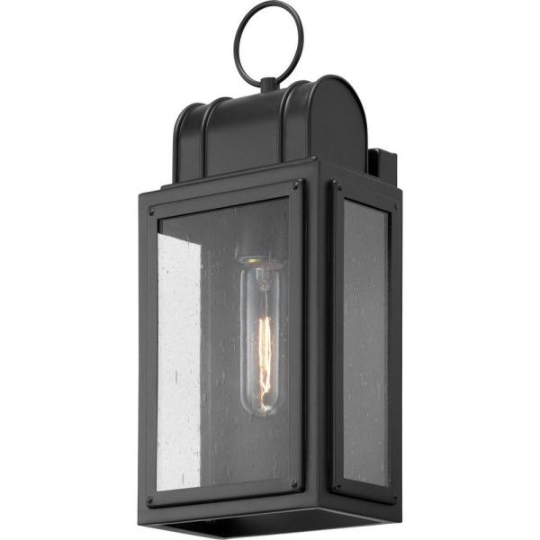 2019 Armanno Matte Black Wall Lanterns In Progress Lighting Park Court 1 Light 15 In (View 13 of 20)