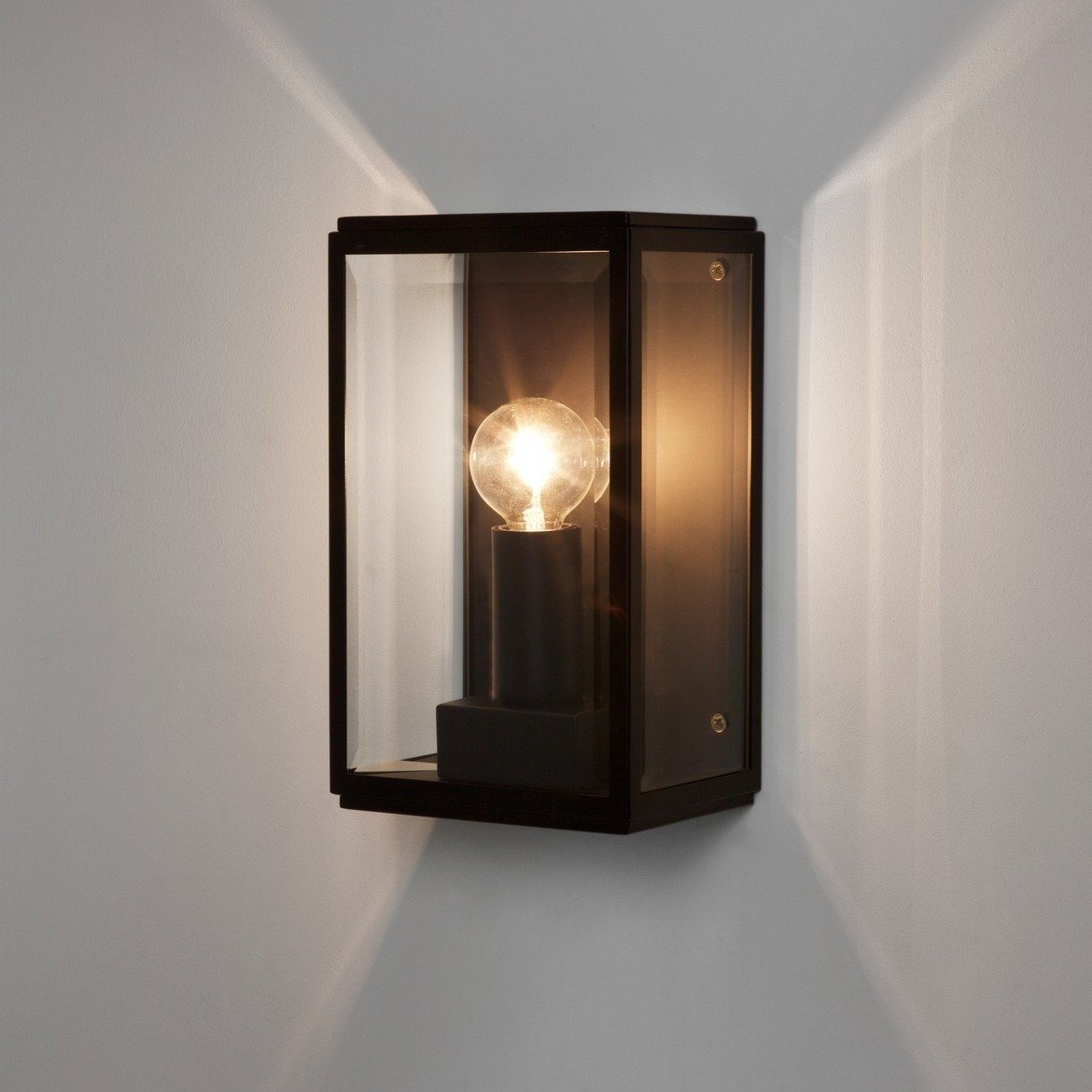 2019 Astro Lighting – Homefield 130 1095013 (7590) – Ip44 In Sheard Textured Black 2 – Bulb Wall Lanterns (View 7 of 20)