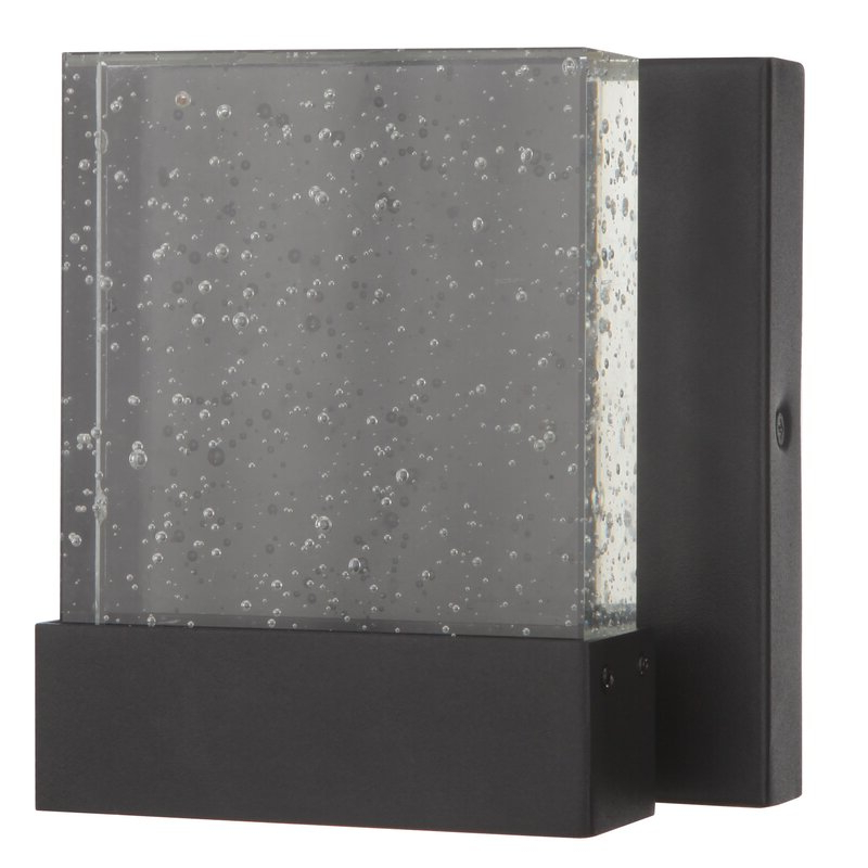 2019 Chazz Integrated Led Outdoor Armed Sconces Throughout Wade Logan® Trimble Integrated Led Glass Outdoor Armed (View 14 of 20)