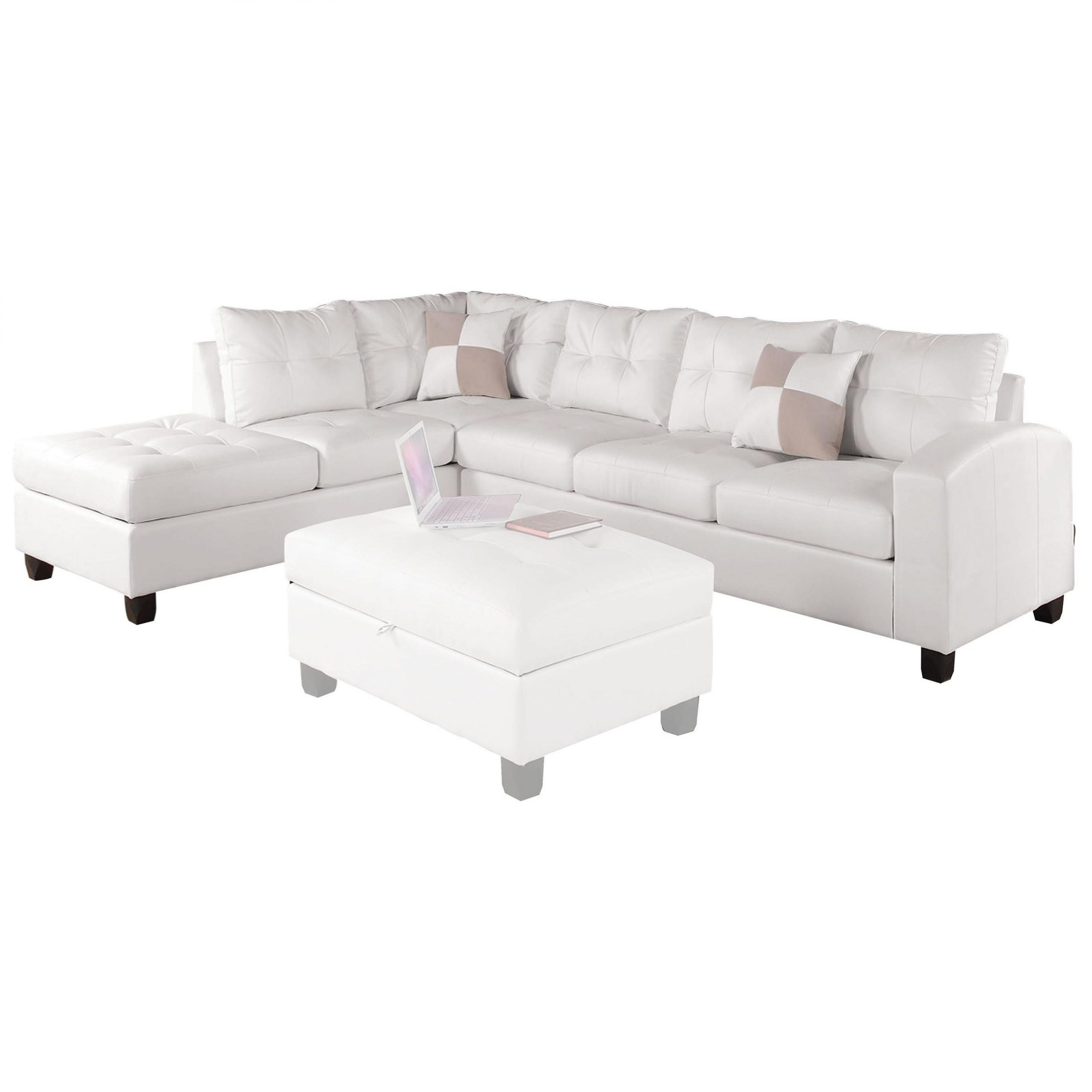 2019 Clifton Reversible Sectional Sofas With Pillows With Regard To Acme Furniture Kiva Sectional Sofa W/2 Pillows (reversible (View 15 of 20)