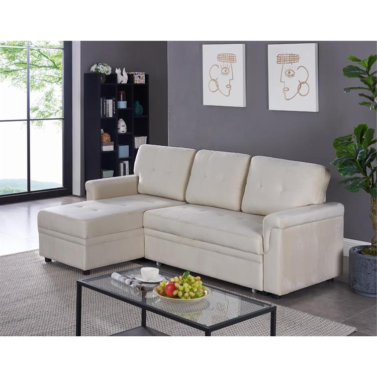 2019 Copenhagen Reversible Small Space Sectional Sofas With Storage Throughout Naomi Home Laura Reversible Sleeper Sectional Sofa Storage (View 11 of 20)