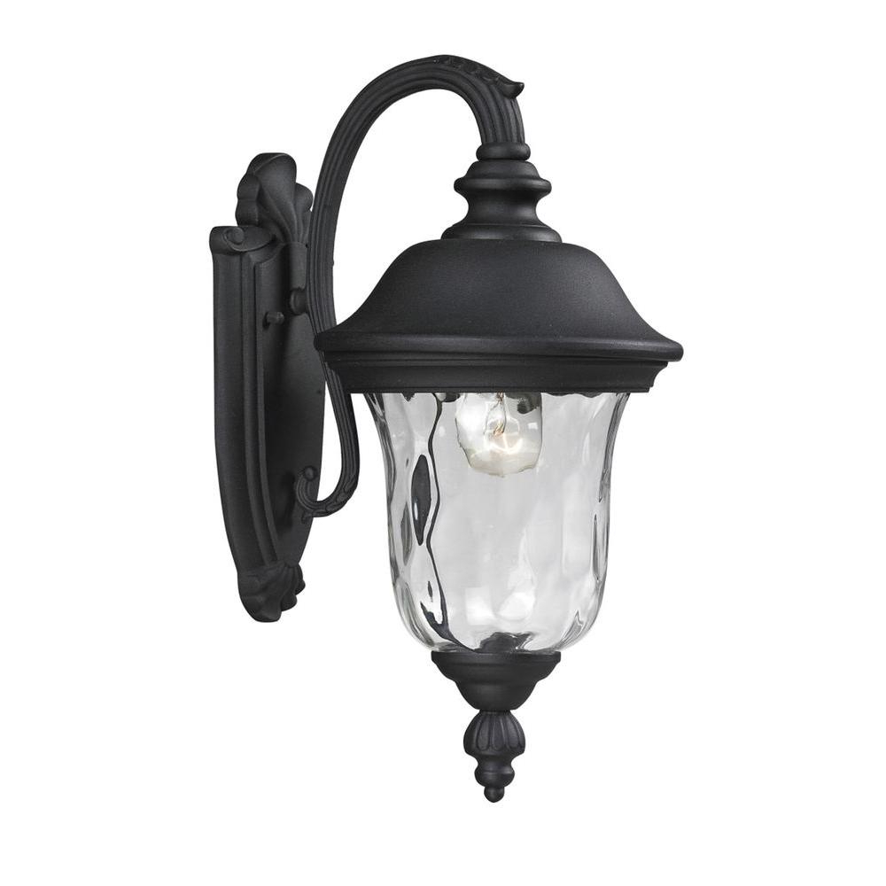 2019 Filament Design Lawrence 1 Light Black Incandescent With Clarence Black Outdoor Wall Lanterns (View 14 of 20)