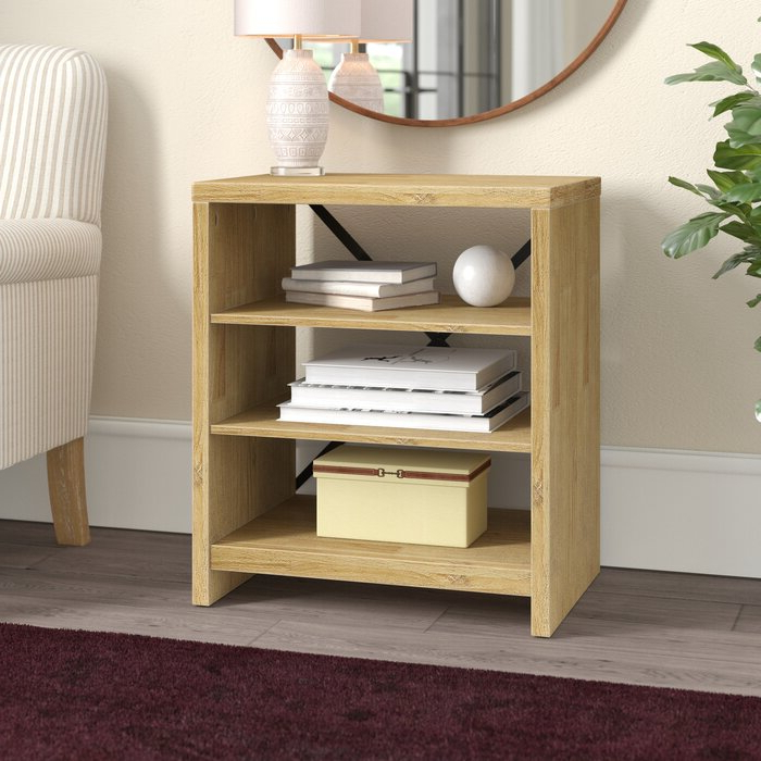 2019 Gracie Chocolate Sofas Within Gracie Oaks Laguna Standard Bookcase & Reviews (View 7 of 20)
