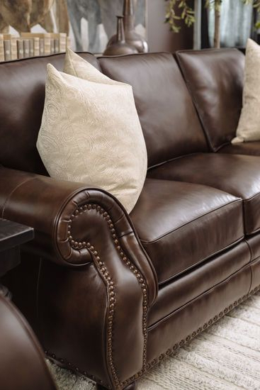 2019 Magnus Brown Power Reclining Sofas Intended For Leather Nailhead Sofa And Loveseat – Sofa Design Ideas (View 20 of 20)