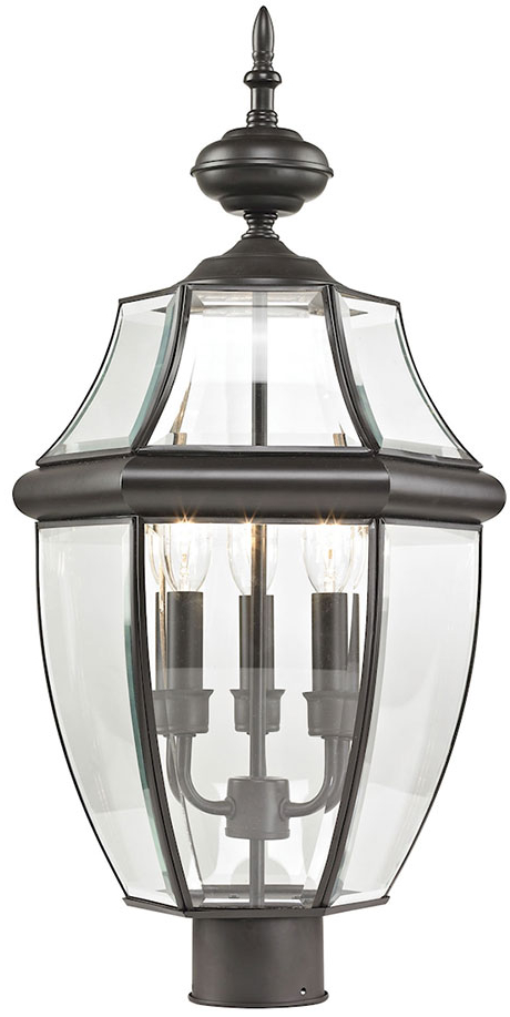 2019 Thomas 8603ep/75 Ashford Oil Rubbed Bronze Outdoor Lamp Intended For Verne Oil Rubbed Bronze Beveled Glass Outdoor Wall Lanterns (View 17 of 20)