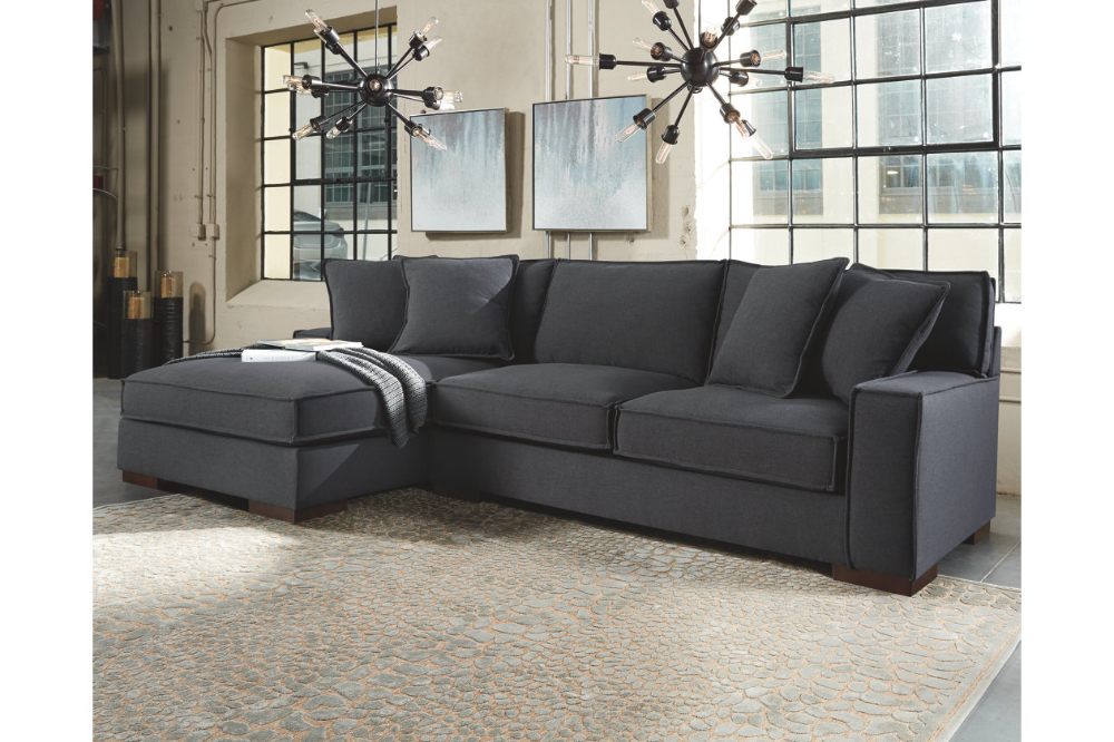 2pc Burland Contemporary Sectional Sofas Charcoal Inside Recent Gamaliel 2 Piece Sectional With Chaise (View 7 of 20)
