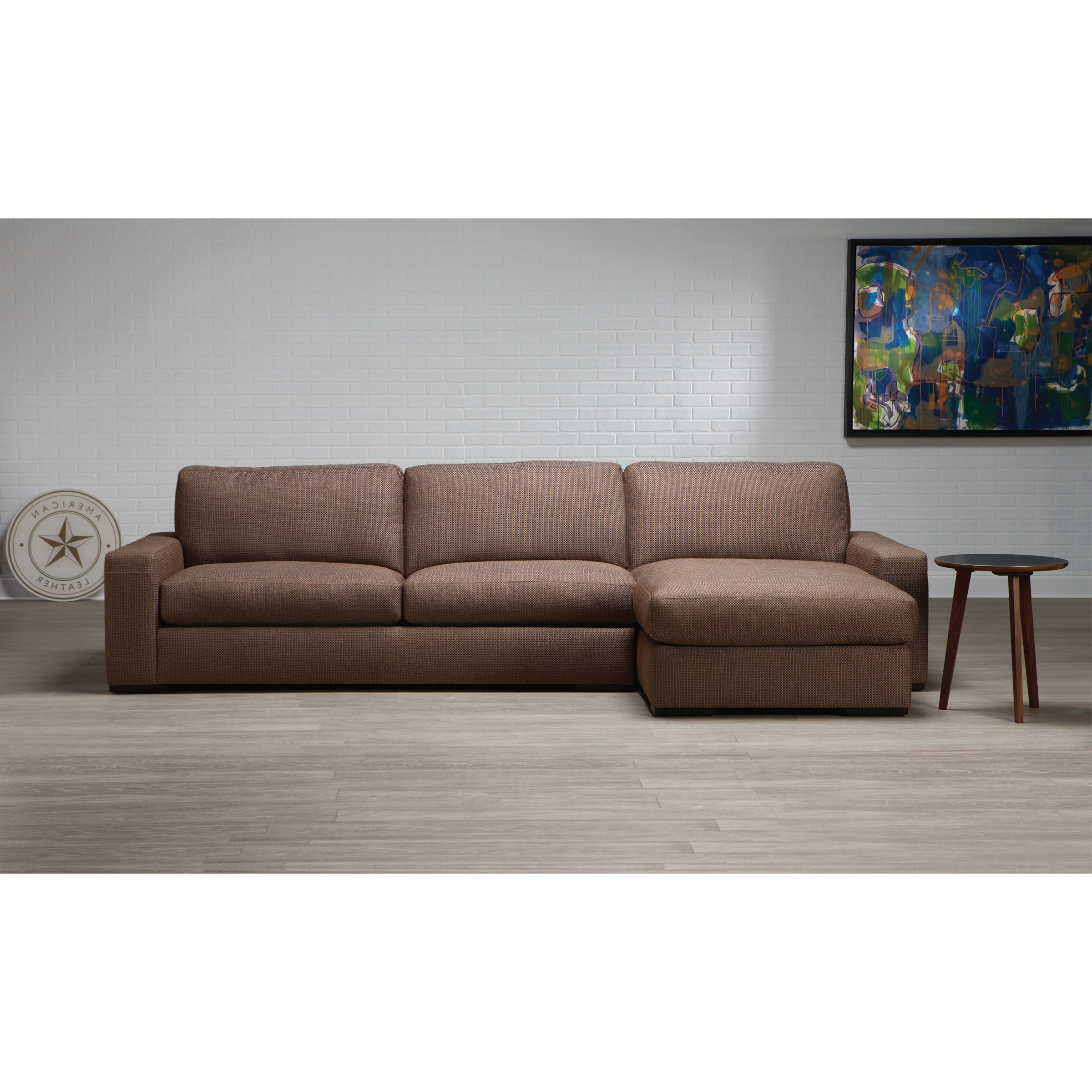 2pc Connel Modern Chaise Sectional Sofas Black In Recent American Leather Westchester Contemporary 2 Piece (View 11 of 20)