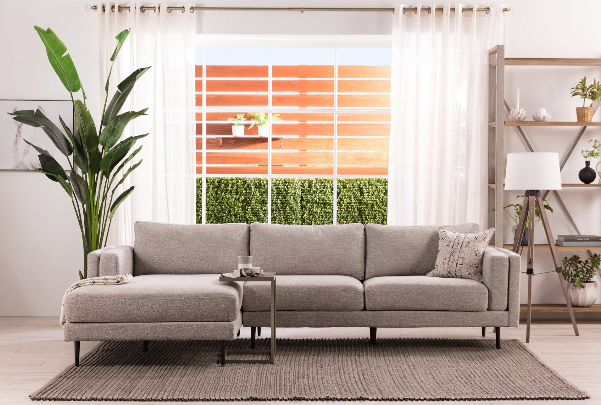 2pc Crowningshield Contemporary Chaise Sofas Light Gray Pertaining To Most Recently Released Aquarius Light Grey 2 Piece Sectionals With Laf Chaise (View 8 of 20)