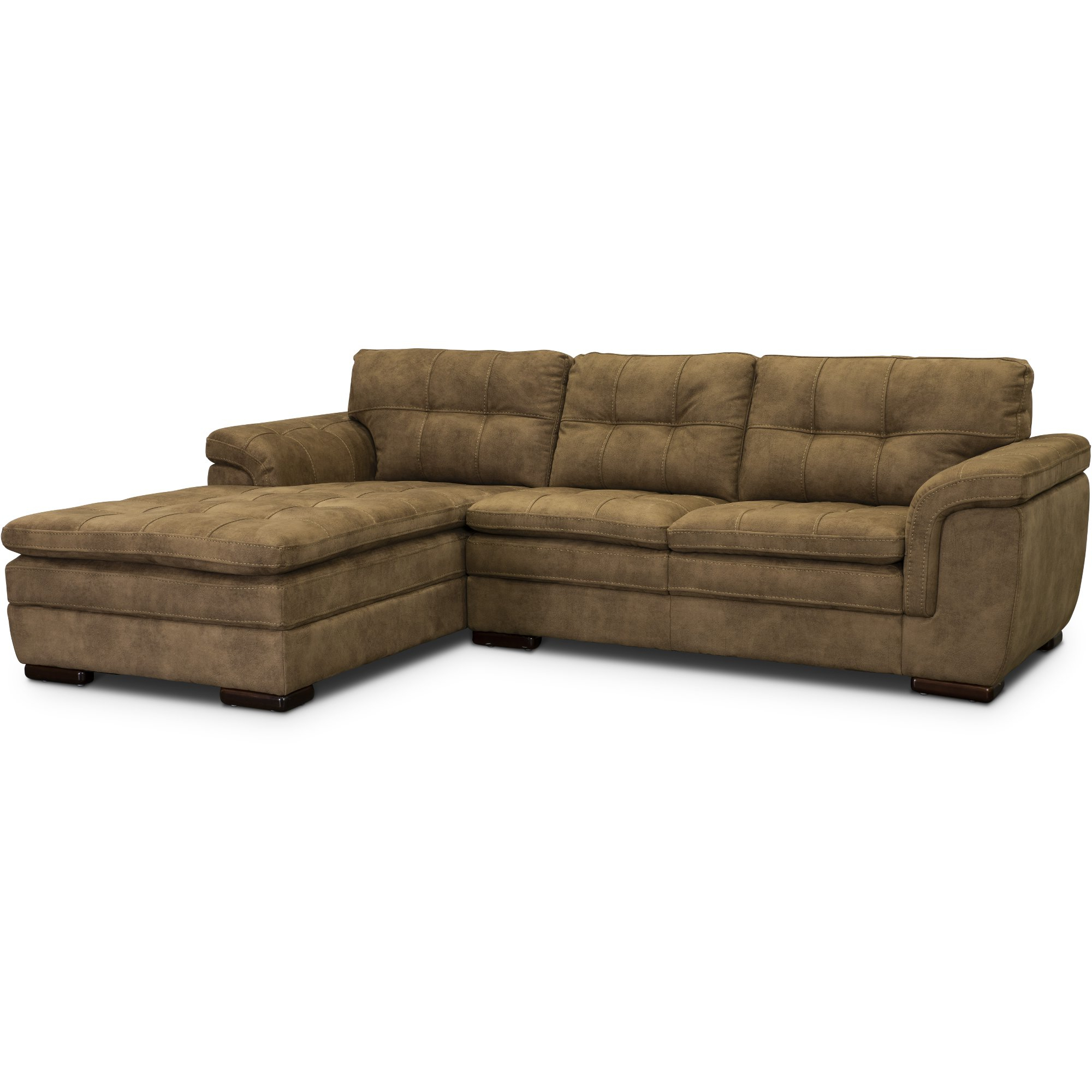 2pc Maddox Left Arm Facing Sectional Sofas With Chaise Brown Regarding Most Recent 2 Piece Sectional Sofa Chaise – Latest Sofa Pictures (View 12 of 20)