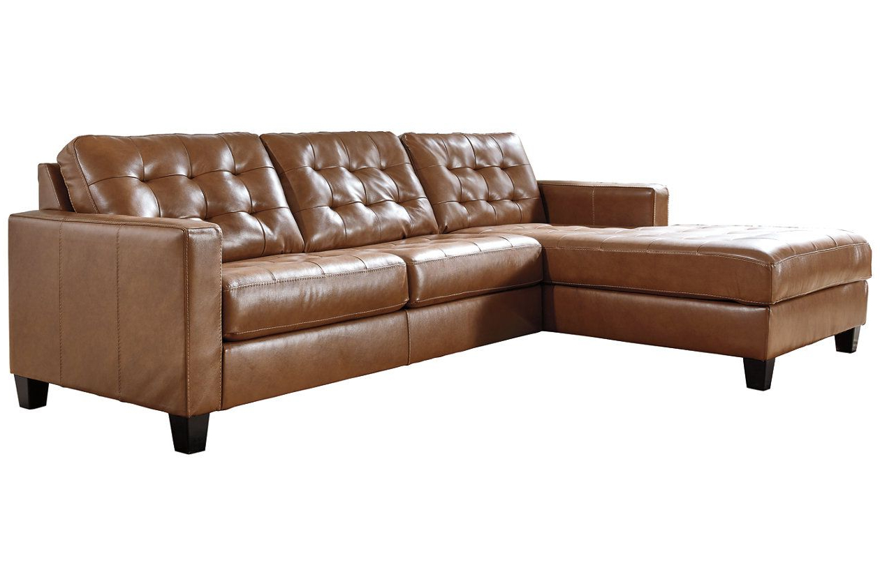 2pc Maddox Right Arm Facing Sectional Sofas With Chaise Brown With Trendy Baskove 2 Piece Sectional With Chaise (View 17 of 20)