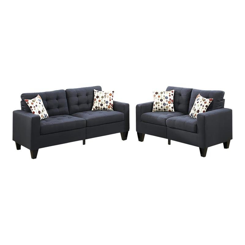 2pc Maddox Right Arm Facing Sectional Sofas With Cuddler Brown Inside 2019 Living Room Sets: Sofa Sets With Couch And Loveseat (View 10 of 17)