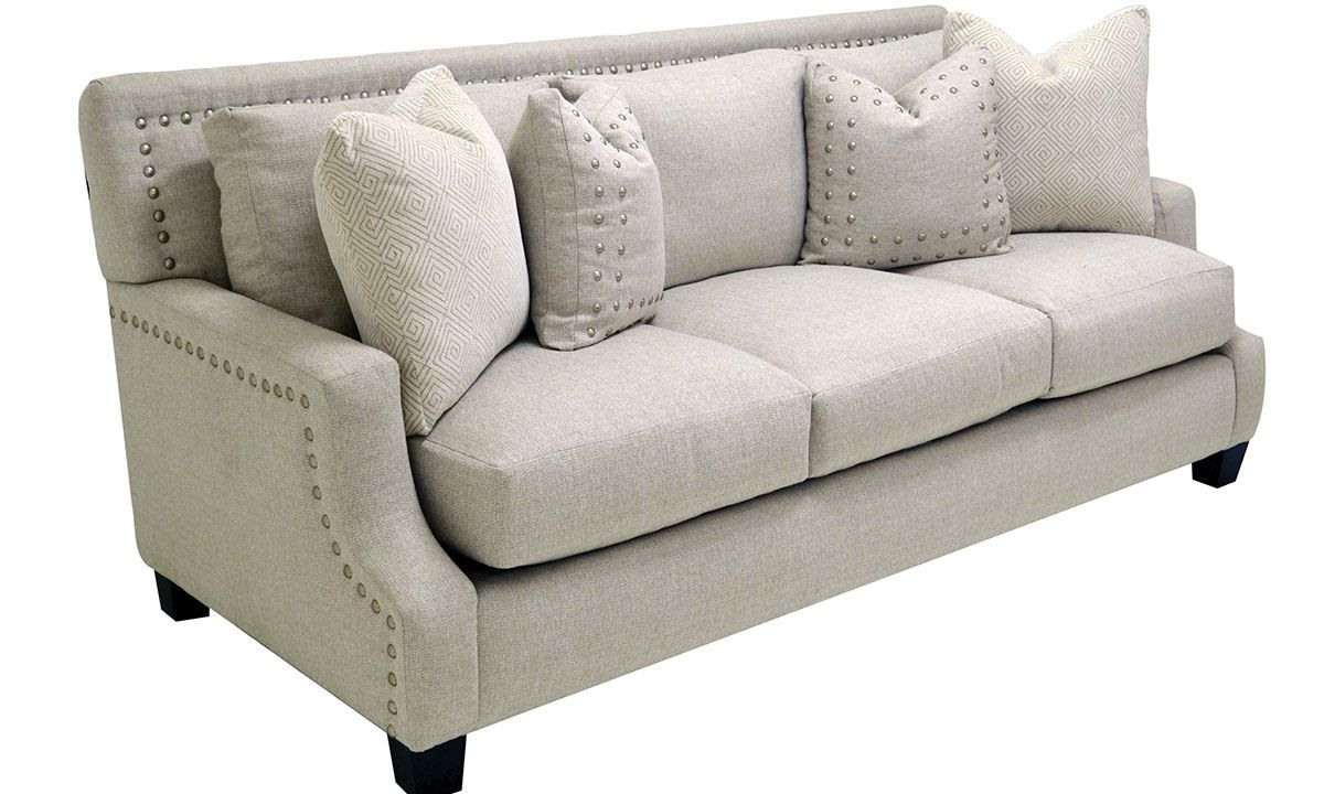 2pc Polyfiber Sectional Sofas With Nailhead Trims Gray Pertaining To Most Current Nailhead Sofa Showing Photos Of Sectional Sofas With (View 18 of 20)
