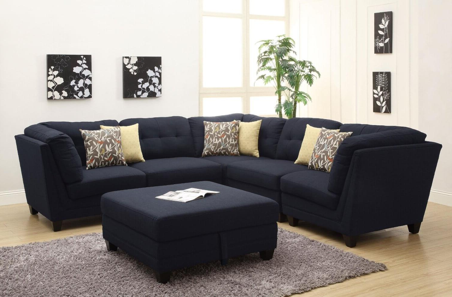 37 Beautiful Sectional Sofas Under $1,000 For Popular Dream Navy 3 Piece Modular Sofas (View 4 of 20)