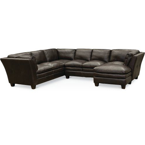 3pc Faux Leather Sectional Sofas Brown Intended For Widely Used Contemporary Dark Brown Leather 3 Piece Sectional – Capri (View 15 of 20)