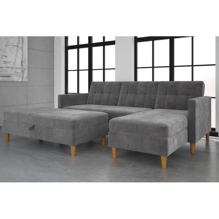 3pc Hartford Storage Sectional Futon Sofas And Hartford Storage Ottoman Tan Pertaining To Popular Shop Wayfair For A Zillion Things Home Across All Styles (View 13 of 20)