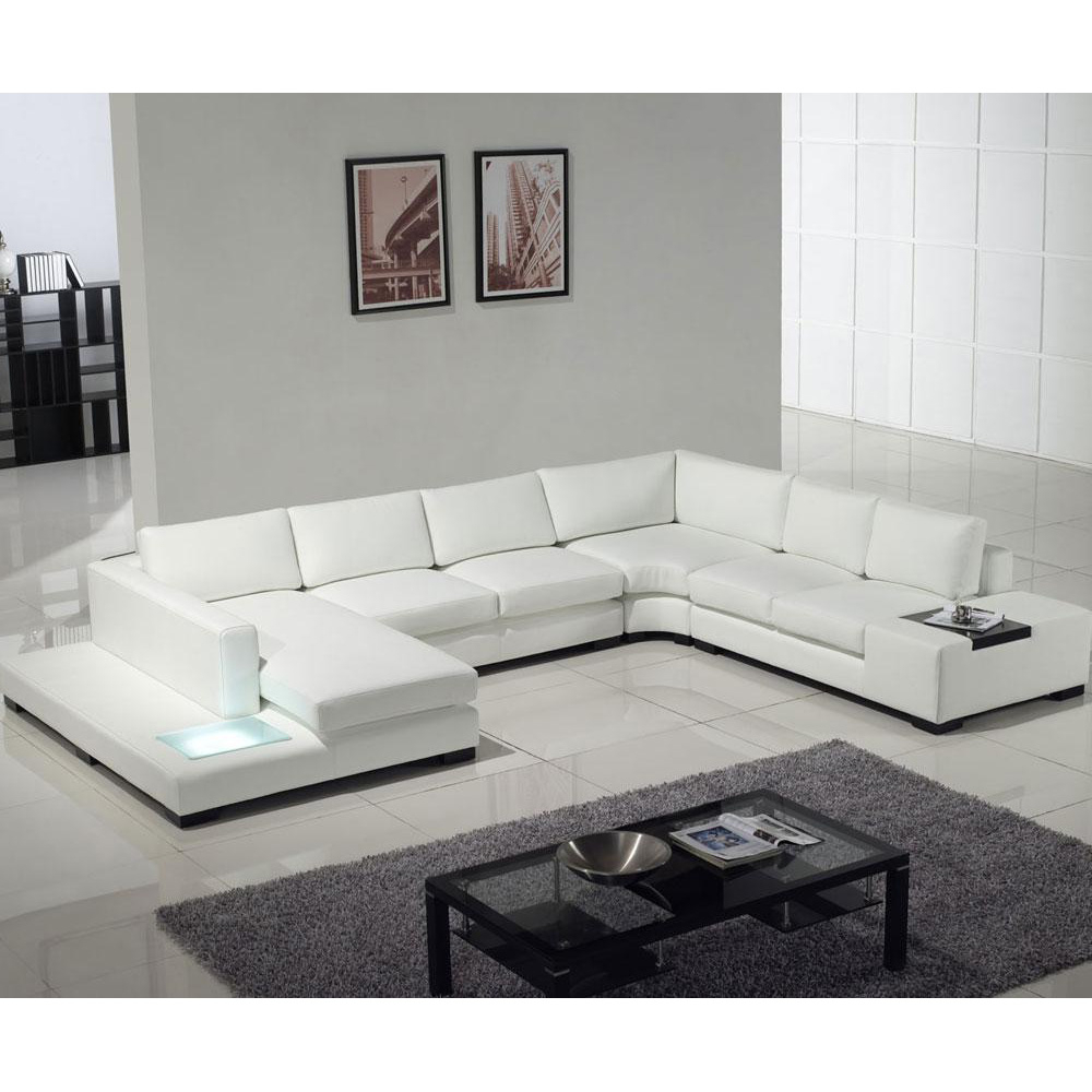 3pc Ledgemere Modern Sectional Sofas For 2018 Tosh Furniture Modern Leather Sectional Sofa With Built In (View 4 of 20)