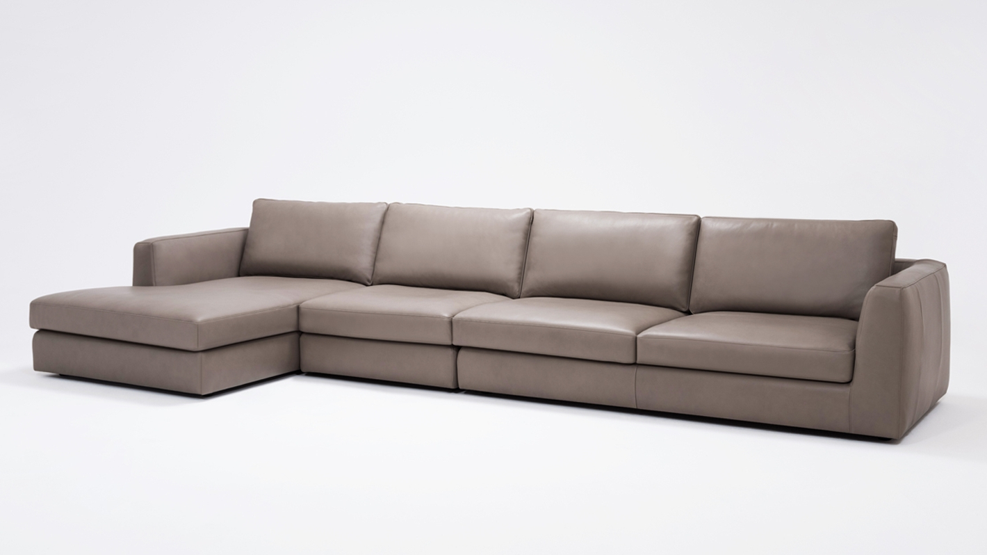 3pc Miles Leather Sectional Sofas With Chaise Pertaining To Most Recently Released Cello 3 Piece Sectional Sofa With Chaise – Leather (View 2 of 20)