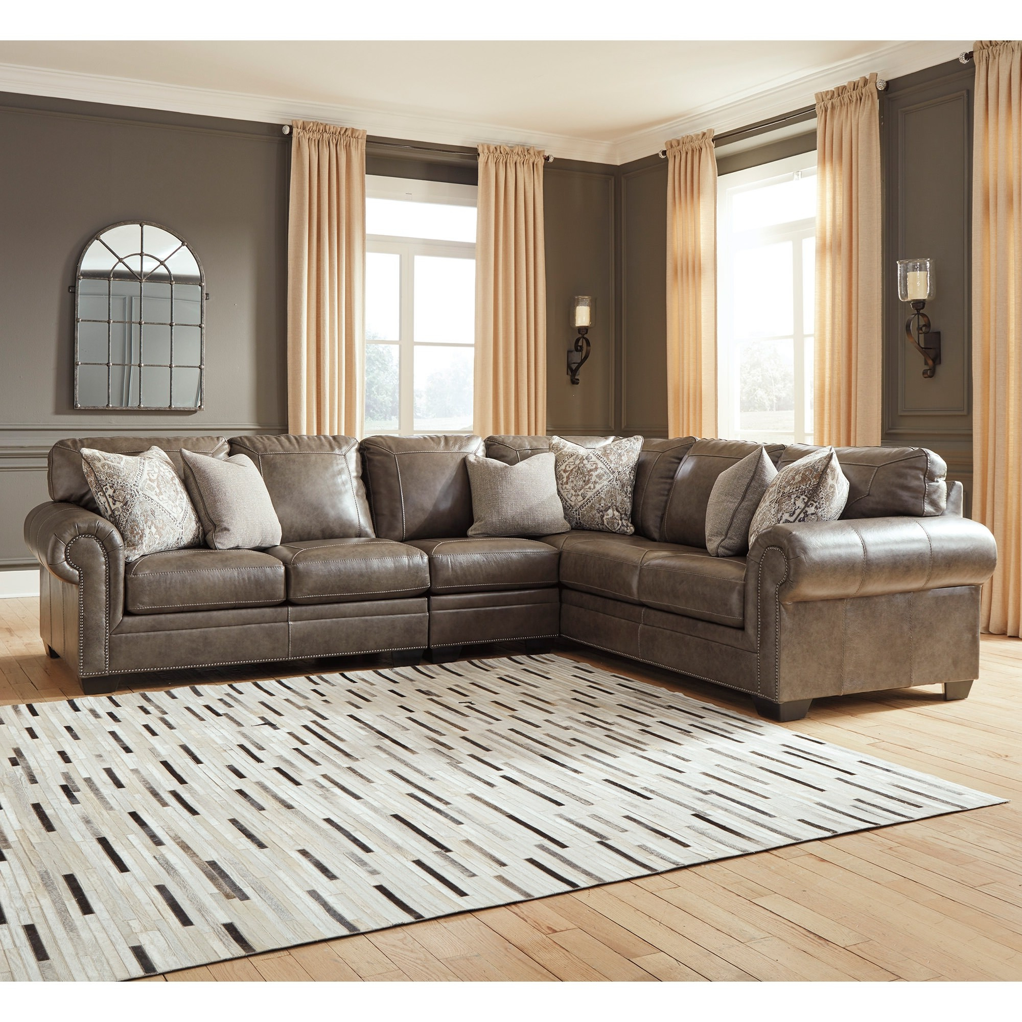 3pc Polyfiber Sectional Sofas In Famous Roleson 3 Piece Sectional – Bernie & Phyl's Furniture – (View 1 of 20)