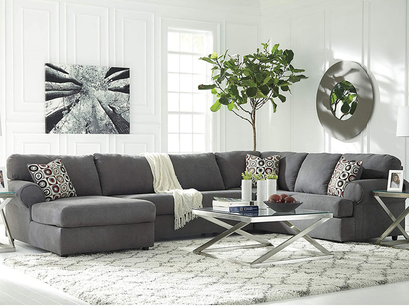 3pc Polyfiber Sectional Sofas With Nail Head Trim Blue/gray In Well Liked 50 Best Cheap Sectional Sofas For Every Budget – Homeluf (View 18 of 20)
