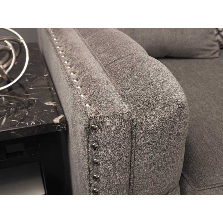 3pc Polyfiber Sectional Sofas With Nail Head Trim Blue/gray Regarding Latest Juliana 3 Piece Sectional With Raf Chaise – Indy Best (View 15 of 20)