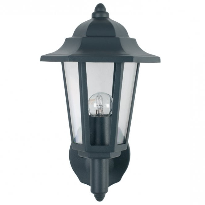 40 028 Azalea Outdoor Wall Lantern Dark Grey With Trendy Rockmeade Black Outdoor Wall Lanterns (View 10 of 20)