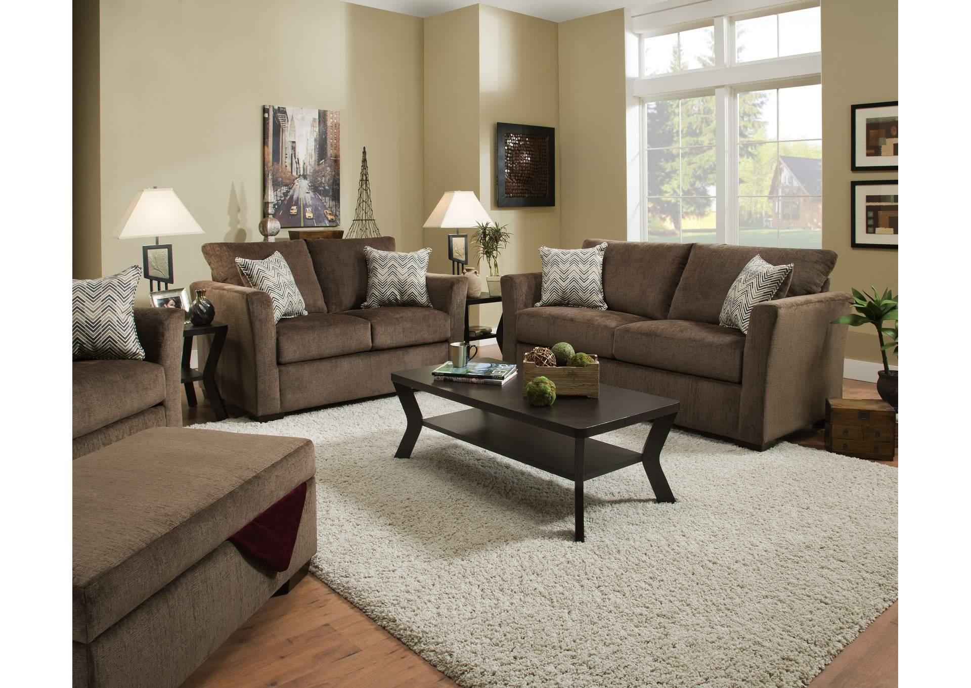 4206 Loveseat – Elan Coffee / Webster Olive Sit & Sleep Within Popular Walker Gray Power Reclining Sofas (View 18 of 20)