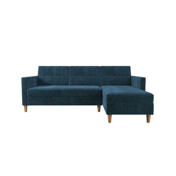 """4pc Alexis Sectional Sofas With Silver Metal Y Legs Regarding Latest Kayden 84"""" Reversible Sleeper Sectional In  (View 15 of 20)"""