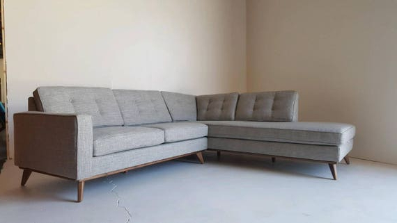 4pc Crowningshield Contemporary Chaise Sectional Sofas For Popular Mid Century Modern Sectional Chaise Sofa (View 17 of 20)
