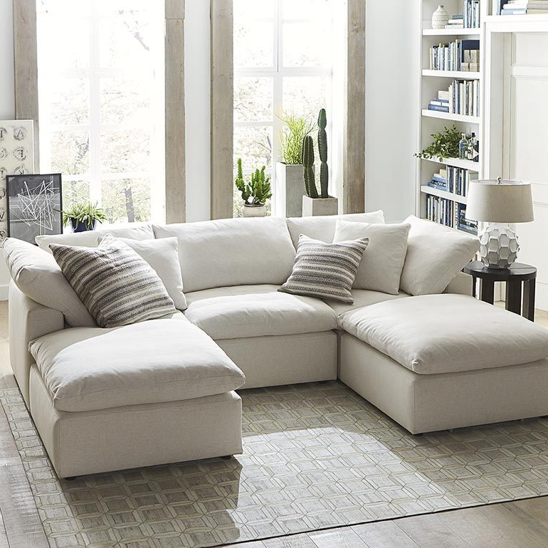 4pc Crowningshield Contemporary Chaise Sectional Sofas Pertaining To Newest Sectional Chaise Sofa Small Double Chaise Sectional (View 10 of 20)