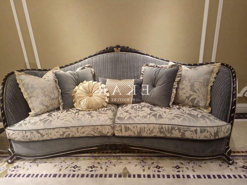 4pc French Seamed Sectional Sofas Velvet Black Throughout Famous Velvet Couch Sale Comfy Upholstered Black Sofa Set – Ekar (View 11 of 20)