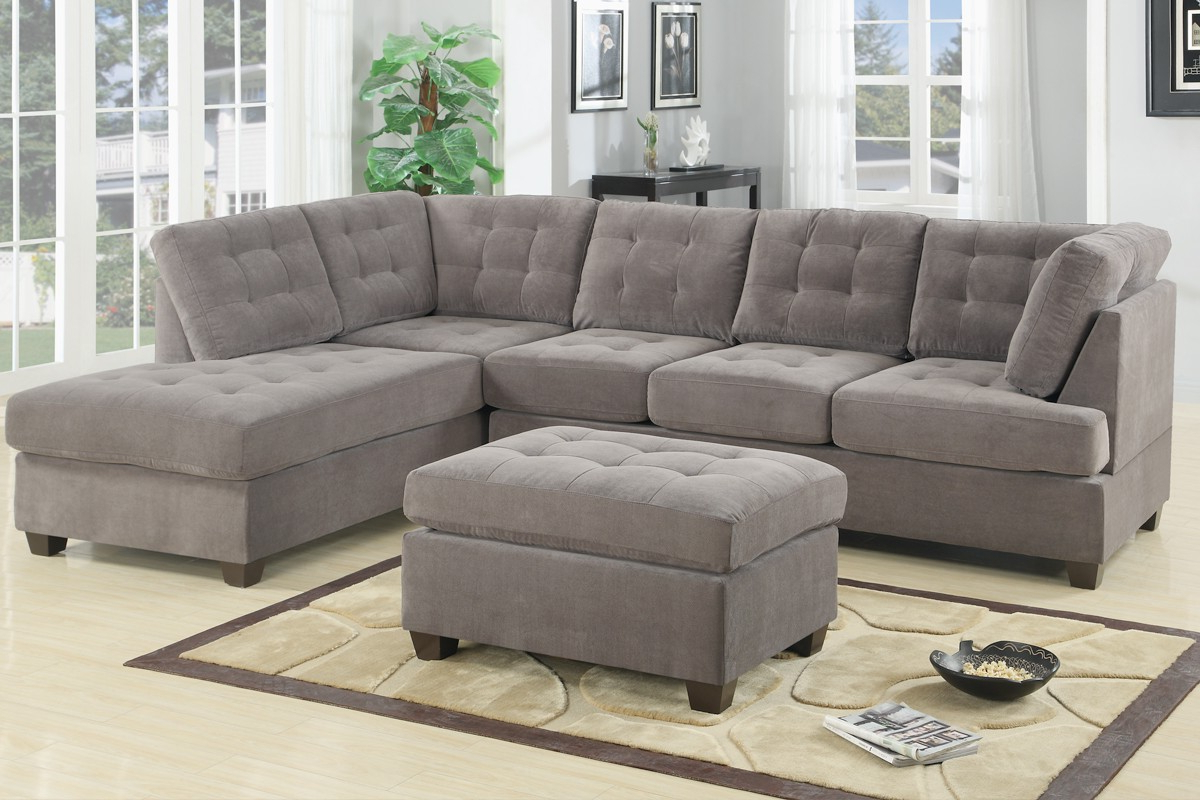 Admirable 2 Piece Sectional Sofas With Chaise Flooding Throughout 2019 Molnar Upholstered Sectional Sofas Blue/gray (View 11 of 20)