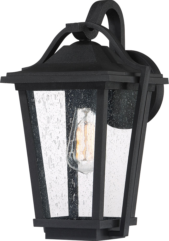 """Ainsworth Earth Black Outdoor Wall Lanterns Intended For 2018 Quoizel Drs8409ek Darius Earth Black Outdoor 9"""" Wall Light (View 14 of 20)"""