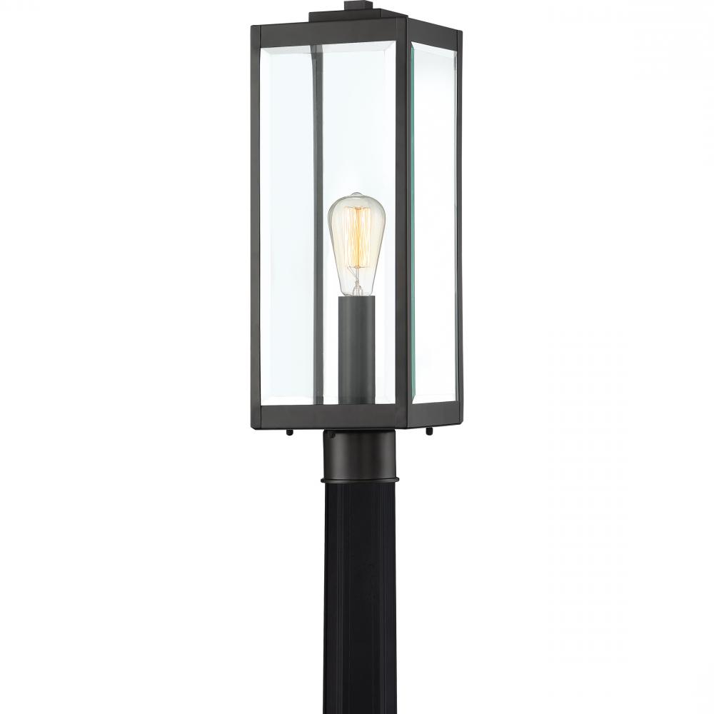 Ainsworth Earth Black Outdoor Wall Lanterns Pertaining To Widely Used Quoizel Wvr9007ek Westover Industrial Outdoor Post Light (View 10 of 20)