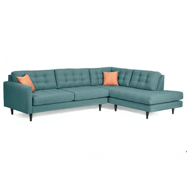 Alani Mid Century Modern Sectional Sofas With Chaise Intended For 2019 You'll Love The Mid Century Sectional At Allmodern – With (View 14 of 20)