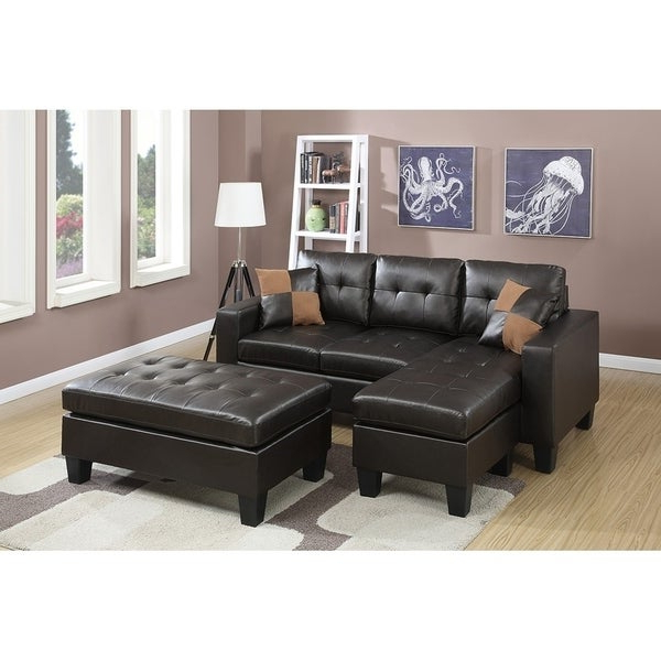 All In One Reversible Sectional Sofa With 2 Accent Pillows For Newest Clifton Reversible Sectional Sofas With Pillows (View 16 of 20)