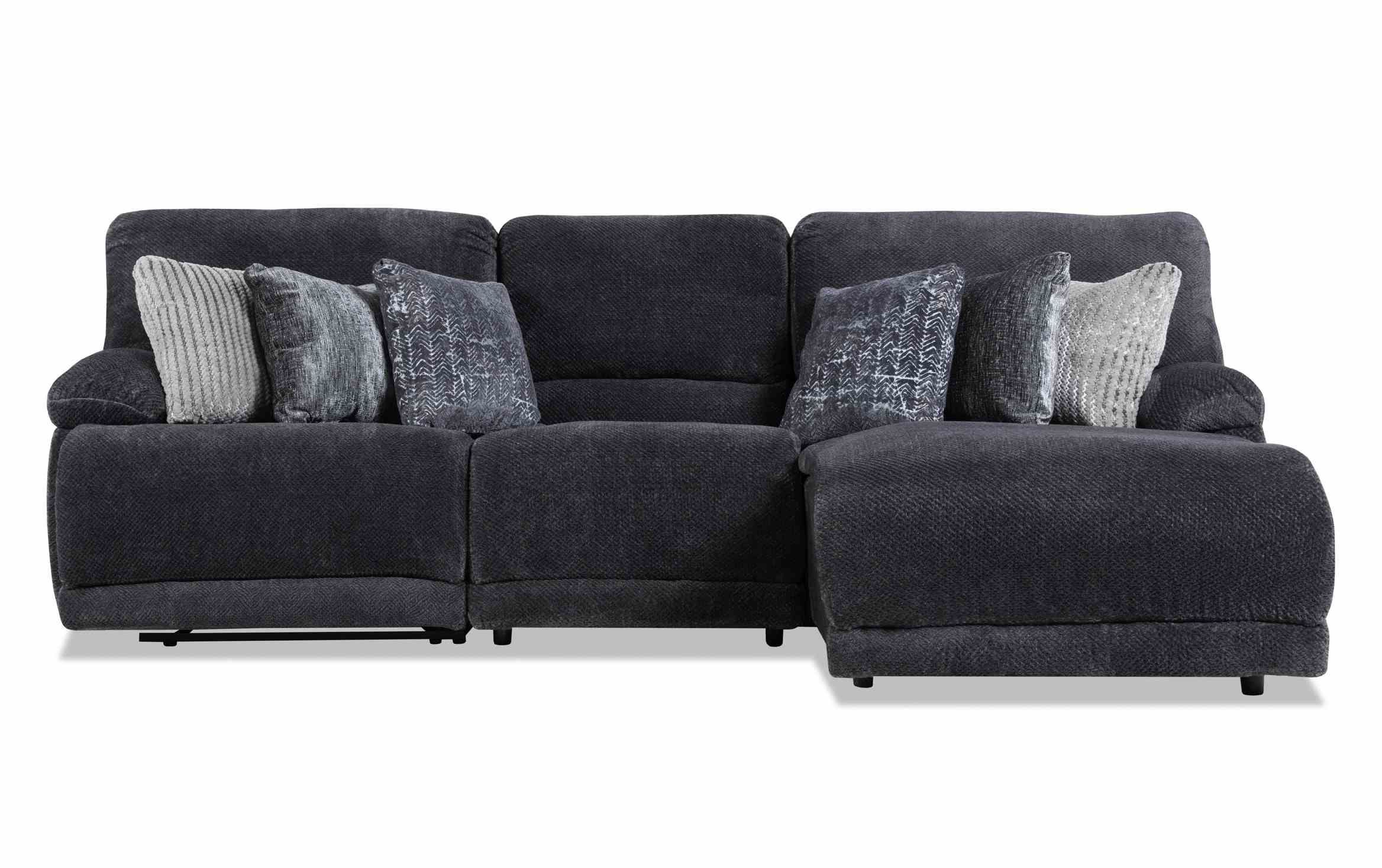 Alpine 3 Piece Right Arm Facing Power Reclining Sectional For Current Contempo Power Reclining Sofas (View 6 of 20)