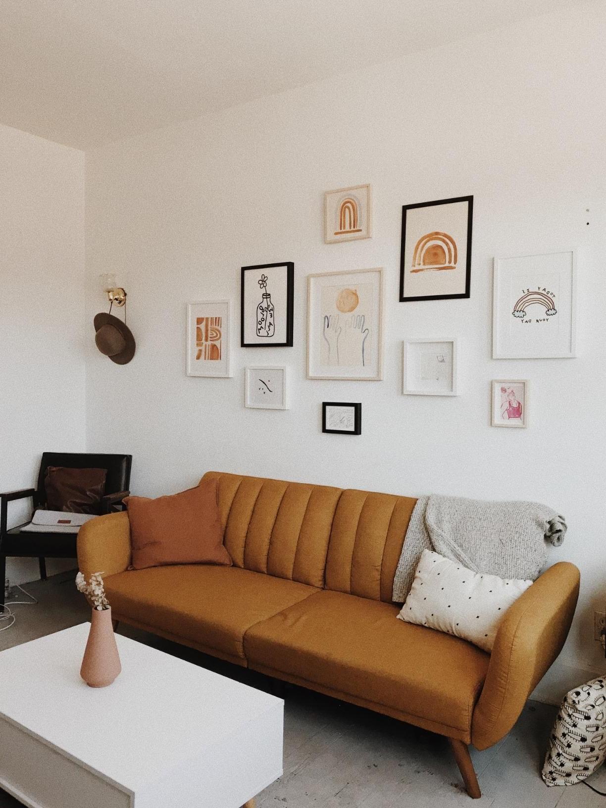 Amazon: Novogratz Brittany Sofa Futon, Premium Linen In Well Known Brittany Sectional Futon Sofas (View 12 of 20)