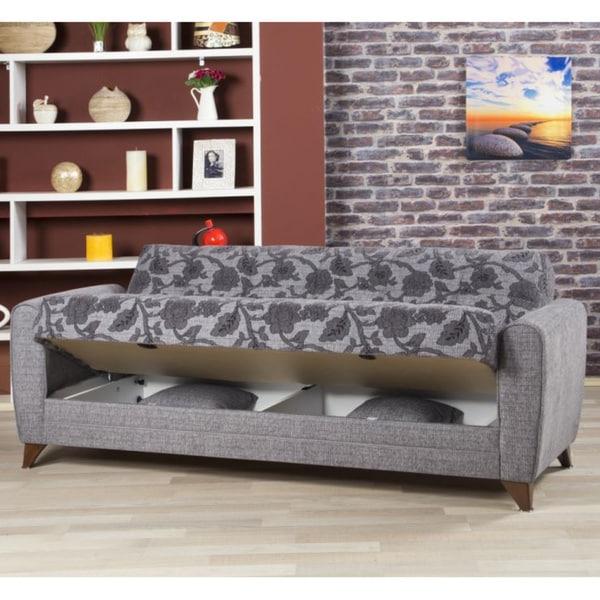 Anatolia Convertible Futon Sofa Bed With Storage Inside Fashionable Prato Storage Sectional Futon Sofas (View 18 of 20)